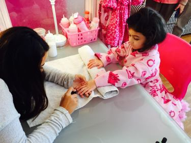 getting nails done