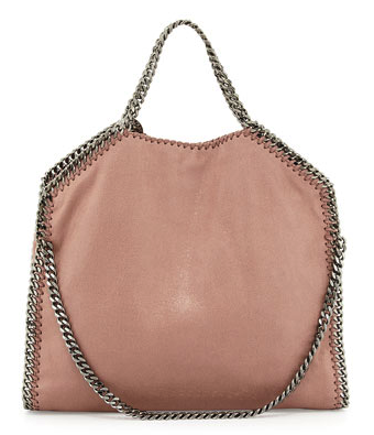 Stella McCartney Falabella Fold-Over Tote Bag in pink Nude