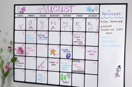 dry erase calendar removable