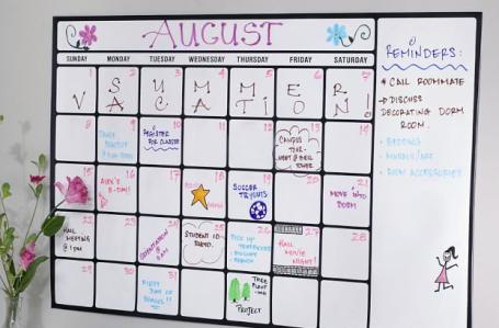 dry erase calendar removable