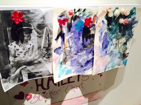 kids art magnet board