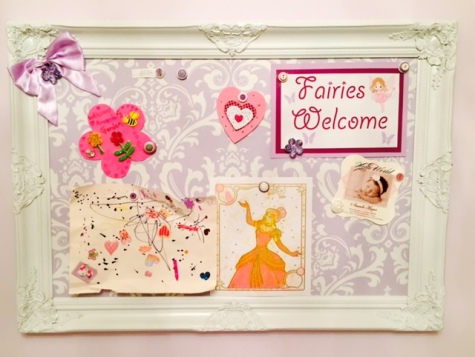 little girl bulletin magnet board