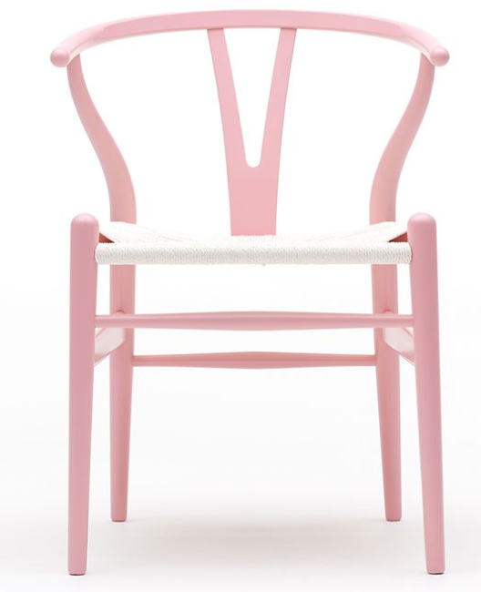Iconic in pink and other colors the wishbone chair lace and lollipops - Adorable iconic furniture design adapts black and white color ...
