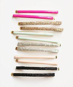 pretty sparkly hair clips