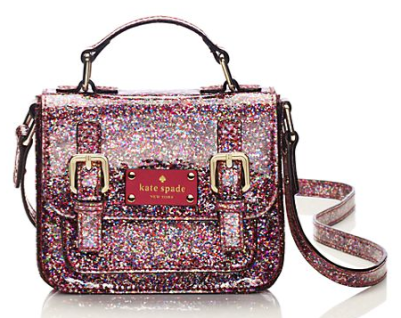 kate spade kids glitter cross body bag