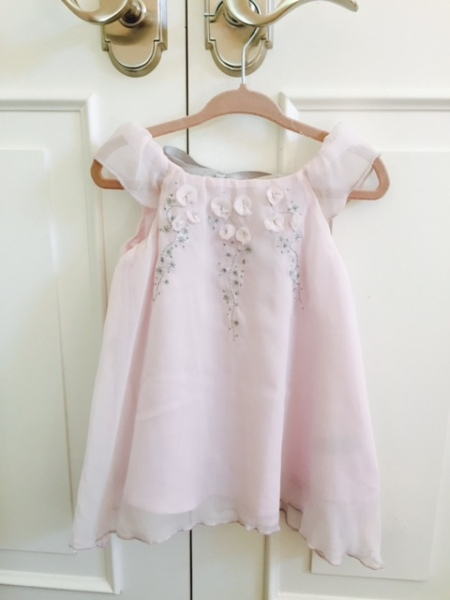 max studio baby dress pink