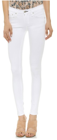 rag and bone skinny white jean