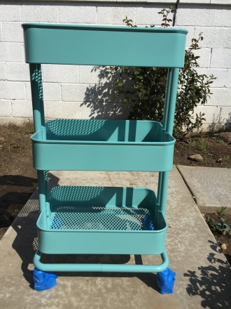 rolling art cart bar cart diy