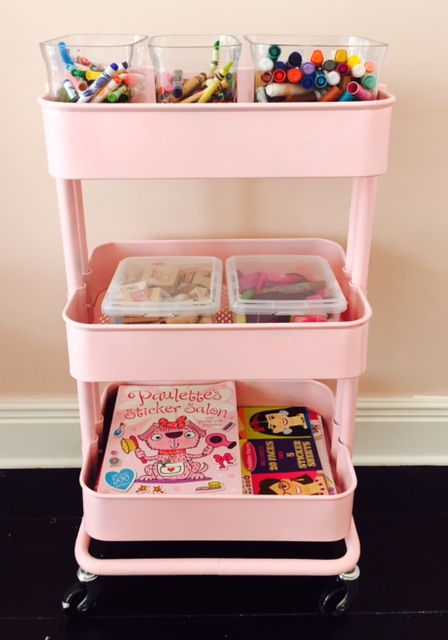 Organize in style rolling art cart diy lace and lollipops pink storage cart diy sciox Images