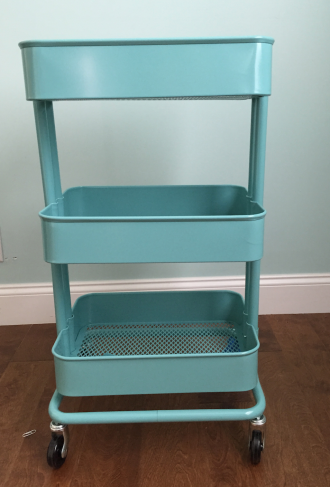 storage art cart diy
