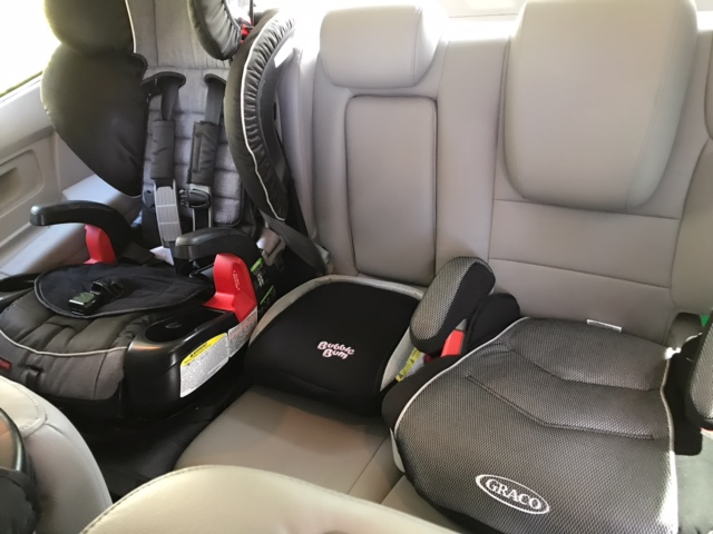 Fit 3 Booster Seats In A Row – Lace And Lollipops